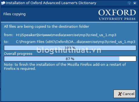 Hướng dẫn cài đặt Oxford Advanced Learner's Dictionary 9th