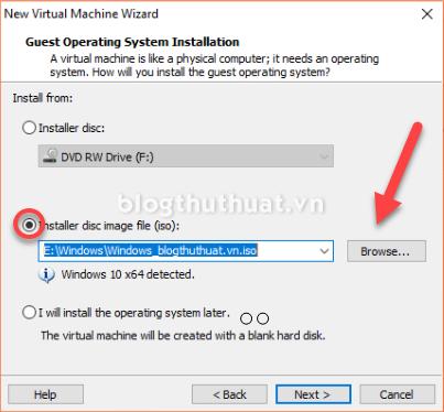 Tạo máy ảo Windows 7/8/10 trên VMware Workstation