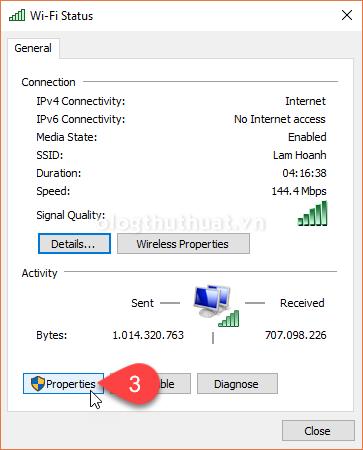 Hướng dẫn đổi DNS Google 8.8.8.8, 8.8.4.4 trên Windows