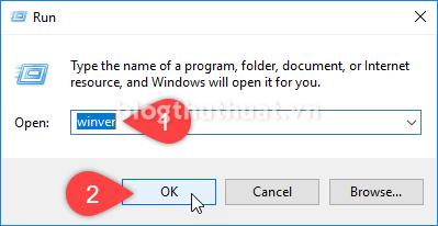 Cách kiểm tra phiên bản (version) và số Build Windows 10