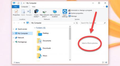 """Cách tắt """"select a file to preview"""" chế độ xem trước Preview Pane"""