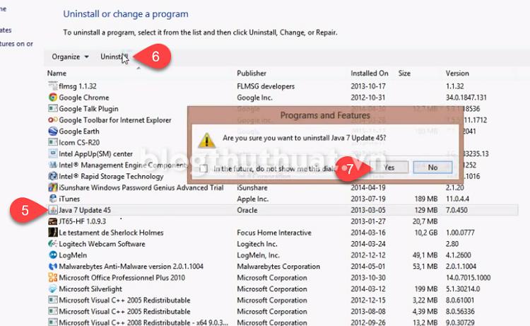 Cách dùng trình gỡ bỏ ứng dụng mặc định Windows 7/8.1/10