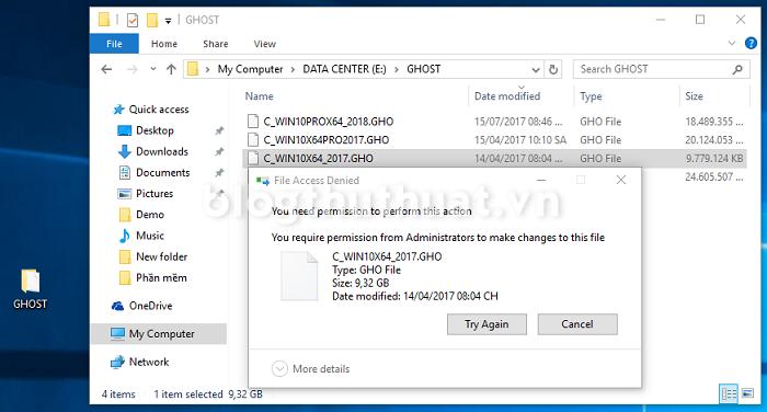 Hướng dẫn xóa file Ghost (.GHO) trên máy tính