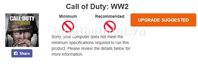 Cách kiểm tra cấu hình máy tính có chơi được game không