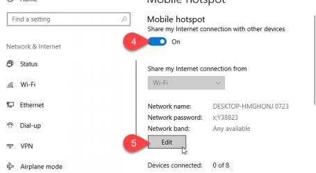 Phát wifi trên laptop windows 10 không cần phần mềm