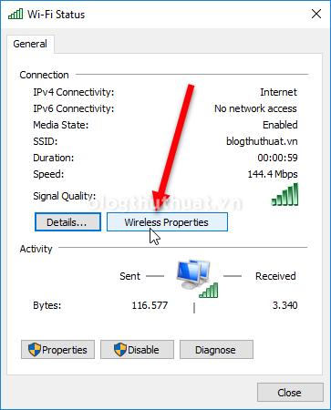 Cách xem mật khẩu Wifi đang sử dụng trên Windows