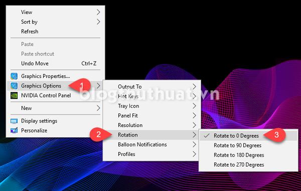 Sửa lỗi màn hình Desktop bị đảo ngược trên Windows