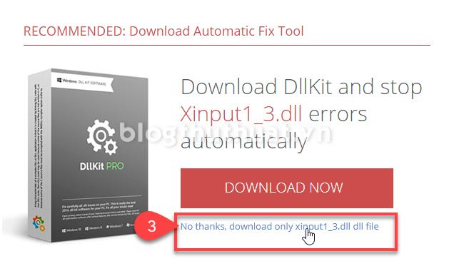 Sửa lỗi file Xinput1_3.dll khi chạy game hoặc phần mềm