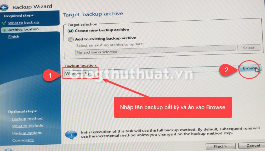 Cách tạo file Ghost backup chuẩn UEFI ổ cứng GPT